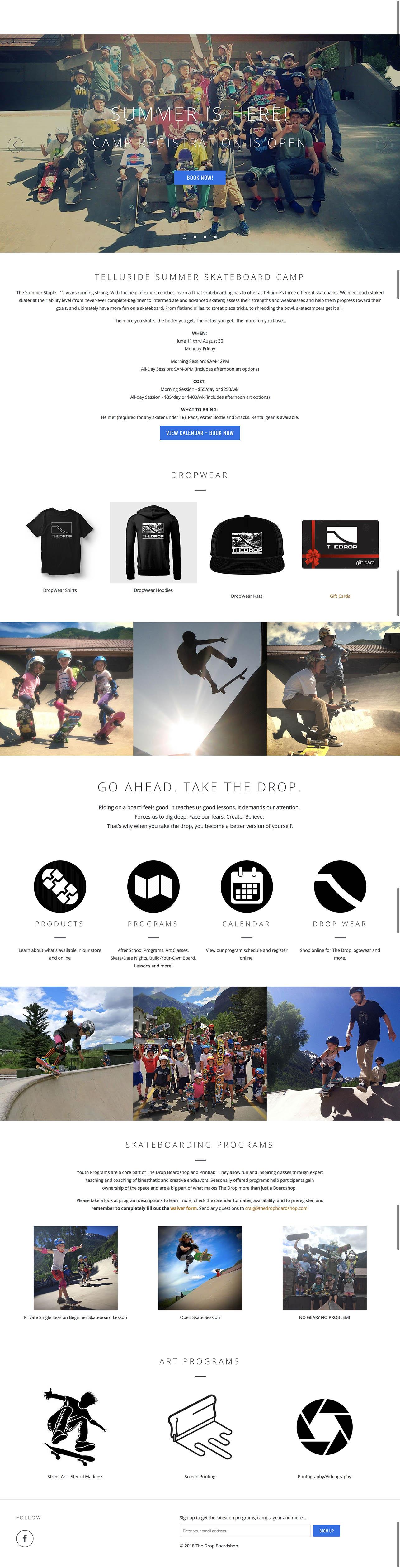 The Drop Boardshop Website